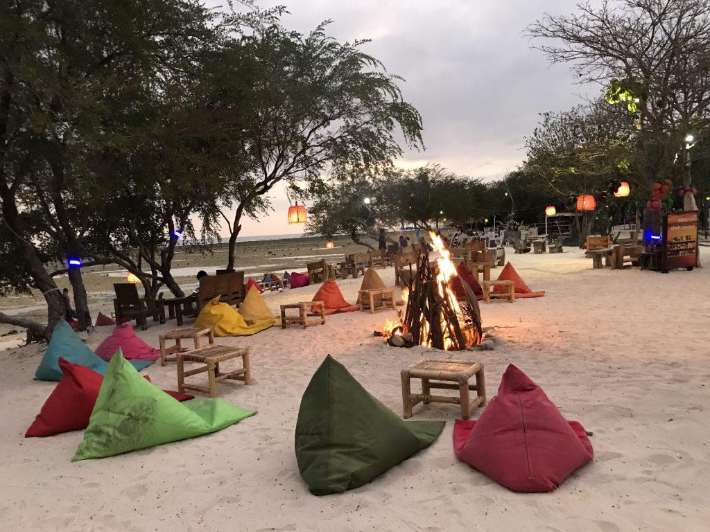 beach bar in Gili T
